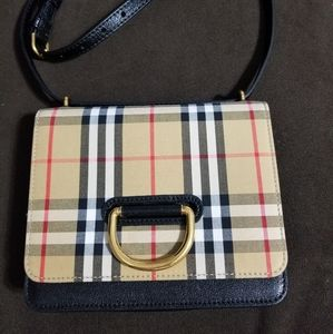 Burberry small leather d ring shoulder bag
